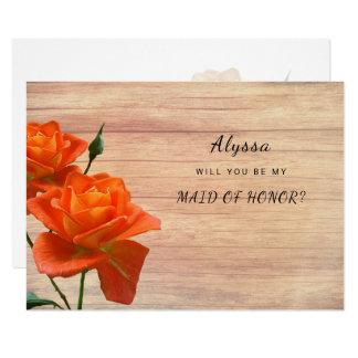 Le bois orange de roses soit ma domestique de carton d'invitation 8,89 cm x 12,70 cm
