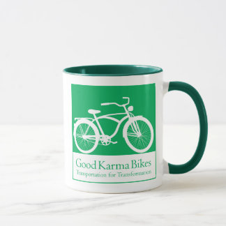 Le bon karma fait du vélo la tasse