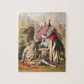 Le bon Samaritain, d'une bible imprimée par Edouar Puzzle
