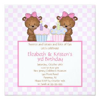 Le bonbon soutient l'invitation d'anniversaire de carton d'invitation  13,33 cm
