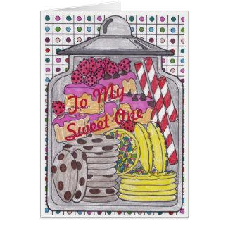 Le bonbon traite 1 carte d'anniversaire pour le