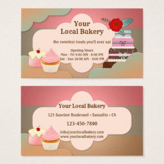 Le bonbon traite le carte de visite de boulangerie