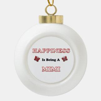 Le bonheur est A Mimi Boule En Céramique