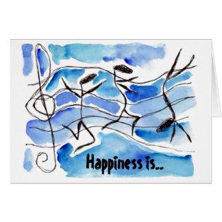 Le bonheur est la vie réglée aux cartes de note