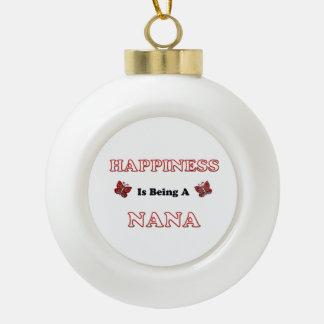 Le bonheur est Nana Boule En Céramique