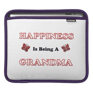 Le bonheur est une grand-maman housse pour iPad