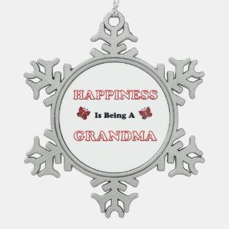 Le bonheur est une grand-maman ornement flocon de neige