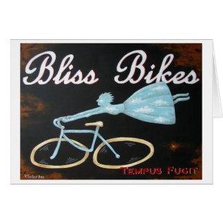 Le bonheur fait du vélo le carte pour notes