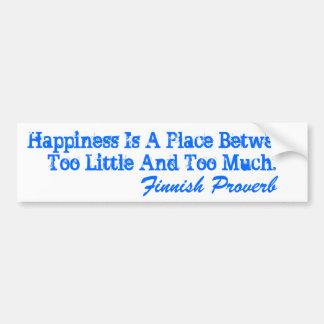 Le bonheur finlandais de proverbe d'adhésif pour p autocollant de voiture
