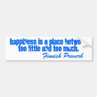 Le bonheur finlandais de proverbe d'adhésif pour p autocollant pour voiture