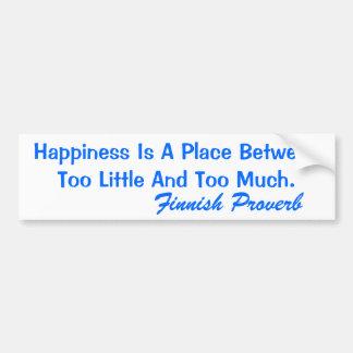 Le bonheur finlandais de proverbe d'adhésif pour p autocollants pour voiture
