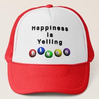 Le bonheur hurle le BINGO-TEST Casquette