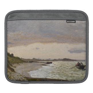 Le bord de la mer chez Sainte-Adresse, 1864 Poches iPad