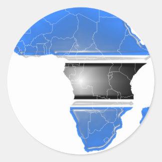Le Botswana Sticker Rond