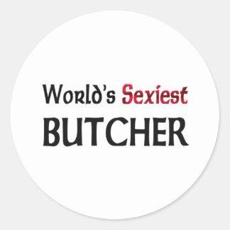 Le boucher le plus sexy du monde adhésif rond