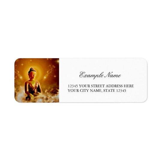 Le Bouddha Étiquette D'adresse Retour
