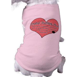 Le bouledogue anglais mélange l'humour de chien d' t-shirt pour chien