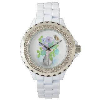 Le bouquet de ressort fleurit le wach de femmes montres bracelet