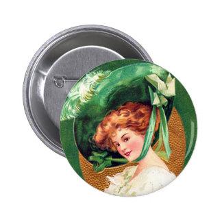 Le bouton de port de vert de fThe d'O Pin's Avec Agrafe