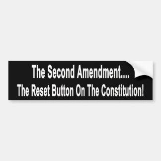 Le bouton de réinitialisation sur la constitution autocollant de voiture