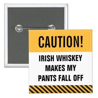 Le bouton de St Patrick drôle de whiskey irlandais Badges