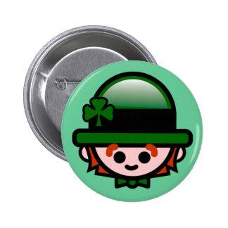 Le bouton de St Patrick heureux Badge