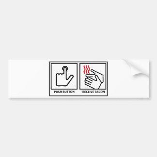 le bouton poussoir reçoivent le lard autocollant de voiture