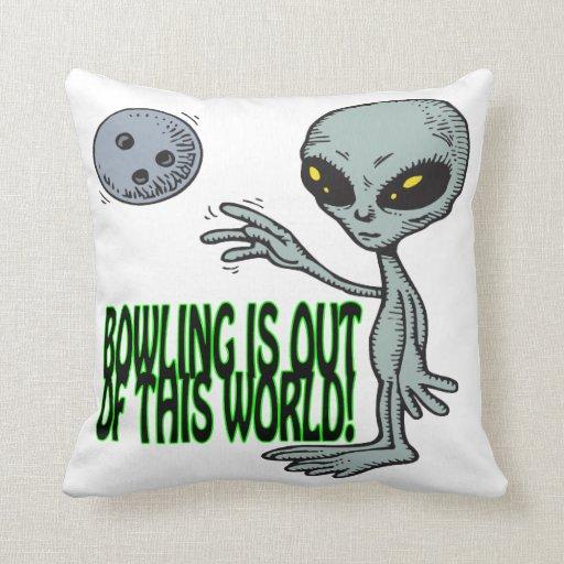 Le bowling est hors de ce monde coussin