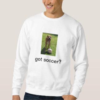 Le boxeur aime le football - le football obtenu ? sweatshirt