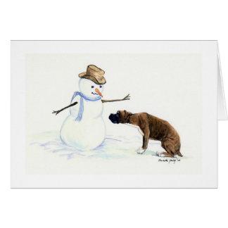 """Le """"boxeur carte pour notes d'art de chien"""