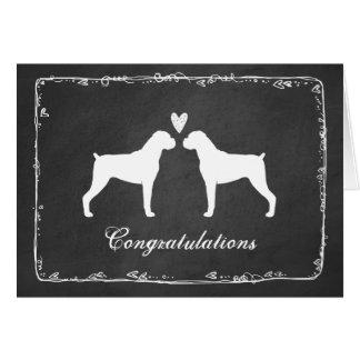 Le boxeur poursuit des félicitations de mariage carte de vœux