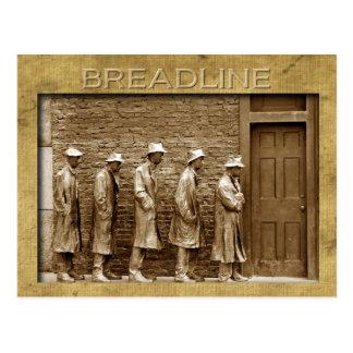 Le Breadline sculptent, le mémorial de FDR, C.C Carte Postale