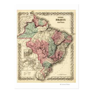 Le Brésil et le GuayanaPanoramic MapBrazil Carte Postale