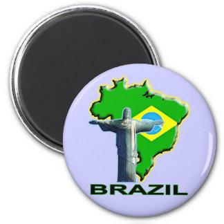 Le Brésil Magnet Rond 8 Cm
