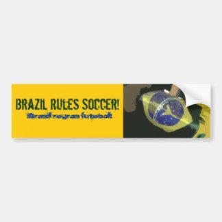 Le Brésil ordonne le football ! Autocollant Pour Voiture