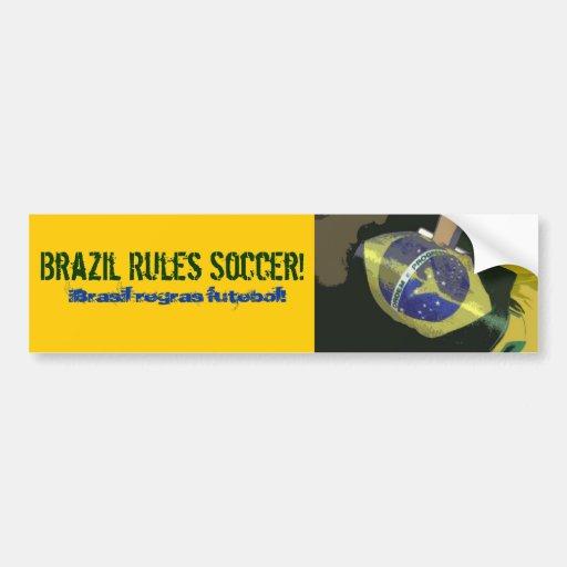 Le Brésil ordonne le football ! Autocollants Pour Voiture