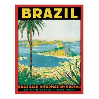 Le Brésil vintage Carte Postale