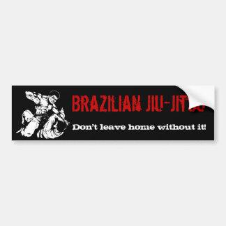 Le Brésilien Jiu-Jitsu, ne partent pas à la maison Autocollant De Voiture