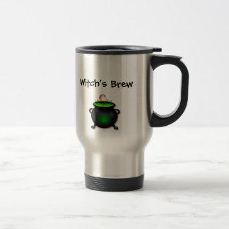 Le Brew de la sorcière/tasse de balai Mug De Voyage En Acier Inoxydable