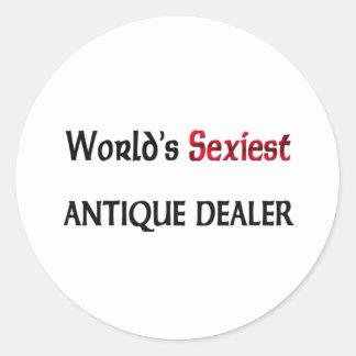 Le brocanteur le plus sexy du monde autocollant rond