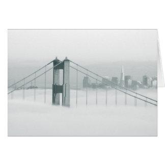 Le brouillard roule par San Francisco Bay 2 Carte De Vœux