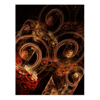 Le bruit de la carte postale d'art abstrait de