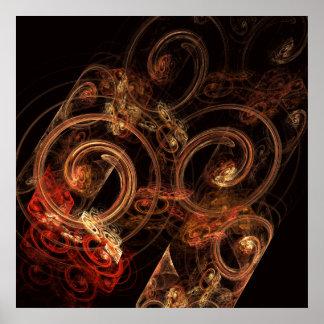 Le bruit de la copie d'art abstrait de musique poster