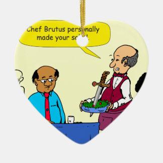 Le Brutus de 904 chefs a fait la bande dessinée de Ornement Cœur En Céramique