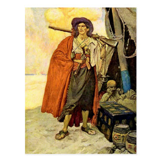 Le Buccaneer - art de pirate Cartes Postales