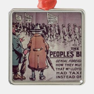 Le Budget', 1909 des personnes Ornement Carré Argenté