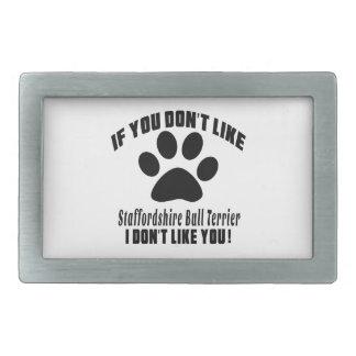 Le bull-terrier du Staffordshire n'aiment pas des Boucles De Ceinture Rectangulaires