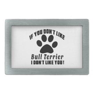 Le bull-terrier n'aiment pas des conceptions boucle de ceinture rectangulaire