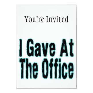 Le bureau carton d'invitation  12,7 cm x 17,78 cm