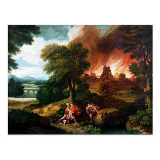 Le Burning de Troie Carte Postale